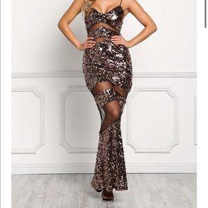 Love Culture BLACK Tulle Sequin Maxi Gown